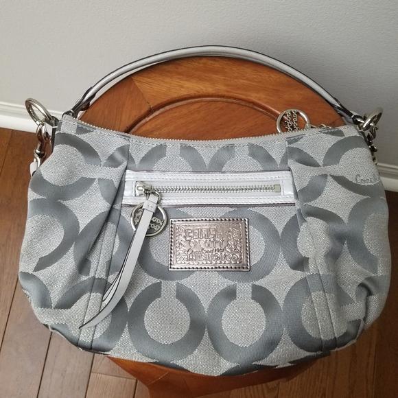 Coach Handbags - Coach Poppy Groovy Crossbody - silver